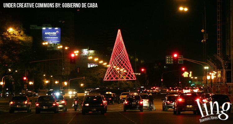 Buenos Aires se ilumina en Navidad