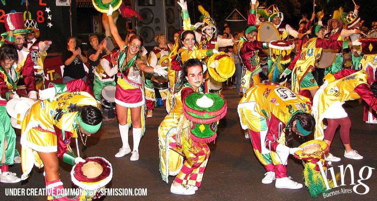 Disfrutar del feriado de Carnaval en Buenos Aires