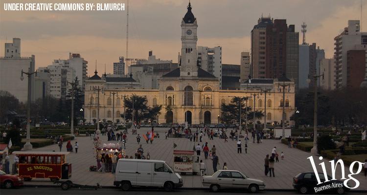 Palacio Municipal de La Plata en Plaza Moreno
