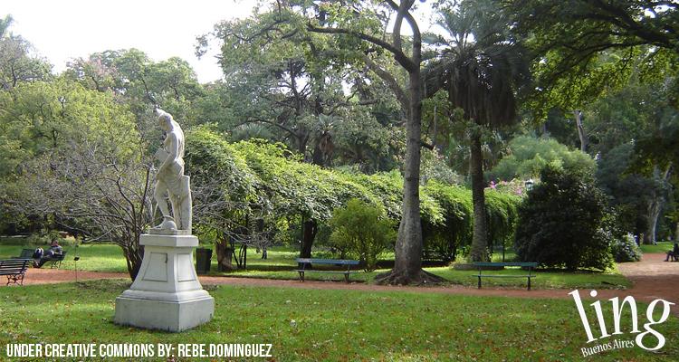 Esculturas en el Botánico de Buenos Aires
