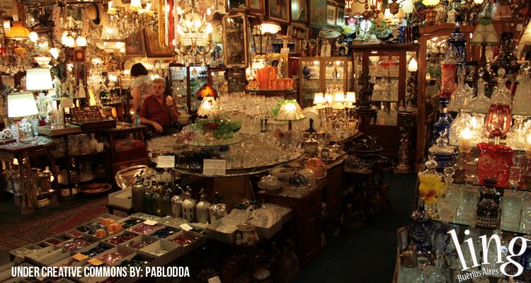 Tienda de antigüedades en San Telmo
