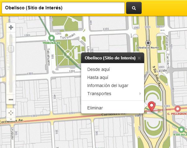 Búsqueda rápidad con el mapa interactivo y digital de CABA