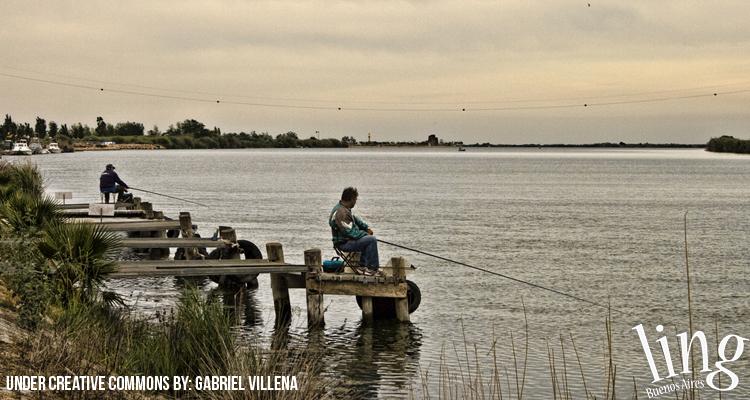 Pesca en laguna